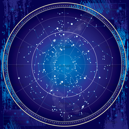 Celestial Map of The Night Sky (Blueprint)