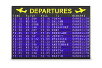 board with canceled flights