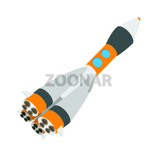 Rocket space ship cartoon icon