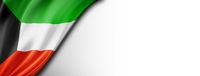 Kuwaiti flag isolated on white banner