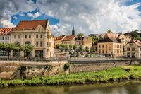 bernburg, germany - 20.06.2019 - old town an der saale