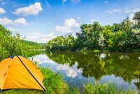 Tent near river