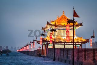 beautiful xian city  in nightfall