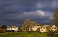 Vogtland village idyll in December