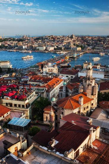 Istanbul City Sunset Cityscape