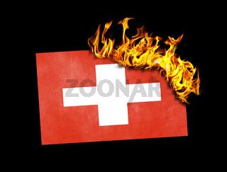 Flag burning - Switzerland