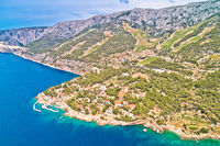 Village of Sveta Nedjelja on Hvar island landscape aerial view