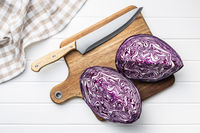 Fresh red cabbage.