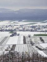Village of Schützen in Burgenland covered with snow