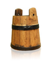 bucket nostalgic wood old jug container milk beer water