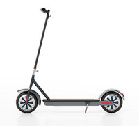 Electric scooter isolated on white background. 3D illustration