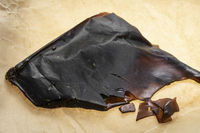 medical marijuana shatter wax processed cannabis concentrate closeup in california