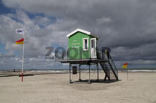 Eine Rettungsschwimmer Hütte