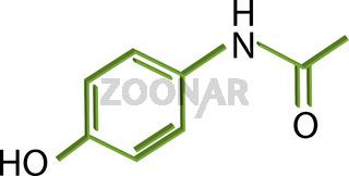 Paracetamol molecule structure