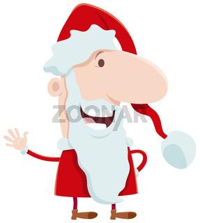 funny Santa Claus cartoon character on Christmas time
