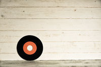 Old red vinyl record isolated