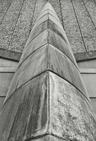 Abstract Brutalist Architecture Detail