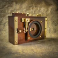 retro pinhole camera
