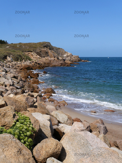 Beach Mondrée in Normandy France