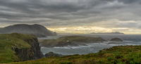 stormy and bad weather on the rugged and wild coast of Galicia