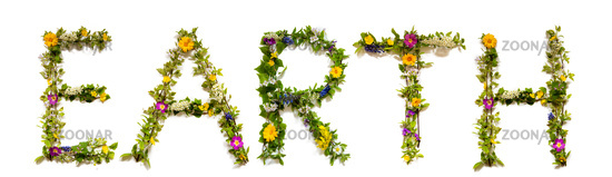 Flower And Blossom Letter Building Word Earth