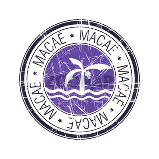 City of Macae, Brazil vector stamp