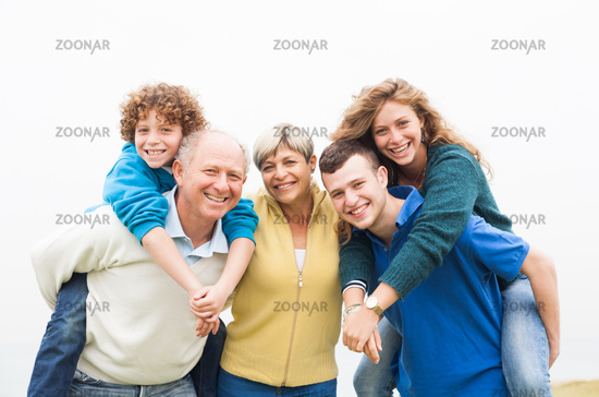 Cheerful family at the vacation