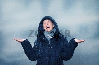 beigeistert wegen schneefall