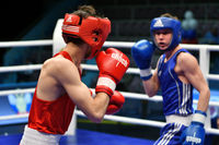 Orenburg, Russia - May 7, 2017 year: Boys boxers compete in the Championship of Russia in boxing amo