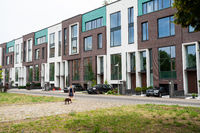 Berlin, Germany, New residential terraced houses in the Mitte locality