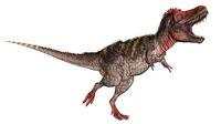 Tarbosaurus dinosaur roaring - 3D render