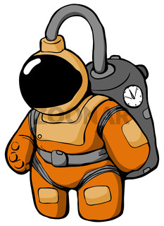 Space Suit Cartoon