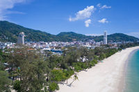 Patong Beach , popular tourist destination in Phuket , Thailand
