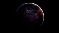 The Earth from space at night. Elements of this image furnished by NASA