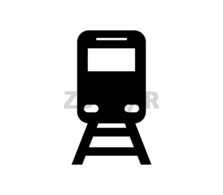 train icon illustrated in vector on white background