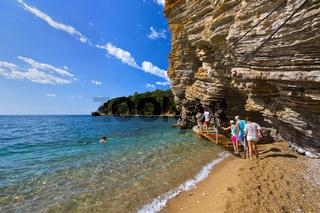 Beach at Budva Montenegro