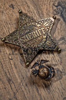 Sheriff Star And Marine Badge