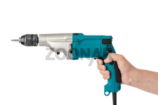 Electric drill in hand