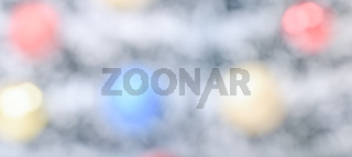 Wide-angle abstract colorful bokeh background for design work on New Year and Christmas holidays themes
