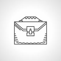 Black line vector icon for briefcase
