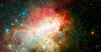Abstract space background. Elements of this image furnished by NASA