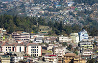 View of Kohima town, Nagaland, India