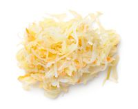 Pile Of Sauerkraut With Carrot Isolated
