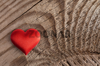 Valentines day heart on wood