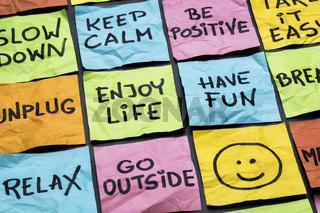 relax, keep calm, enjoy life