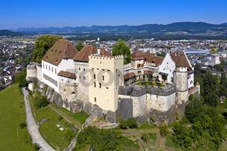 Schloss Lenzburg, Stadt Lenzburg, Kanton Aargau, Schweiz