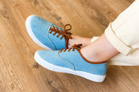 Casual sneakers on women's feet