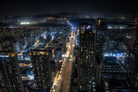 Songdo city view at night