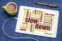 slow down and reducing stress tips
