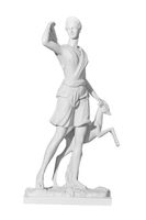 statue of a woman on a white background